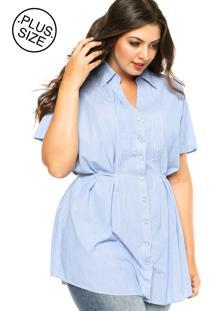Camisa Wee! Pregas Azul