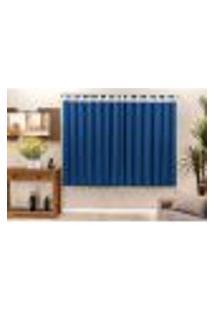 Cortina Para Quarto E Sala Azul 2M X 1,7M Para Varão Simples