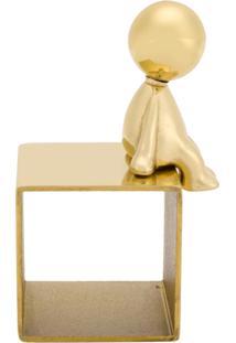 Ghidini 1961 Porta-Guardanapo 'Omini' - Dourado