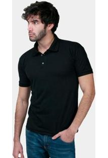 Camisa Polo Part.B Regular Piquet Masculina - Masculino-Preto