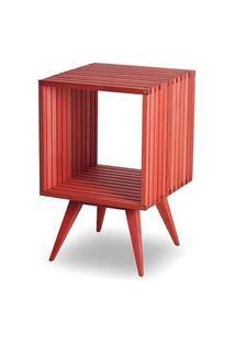 Mesa Lateral Dominoes Estrutura Vermelha 45Cm - 61468 Vermelho