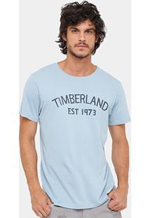 Camiseta Timberland Ss Tape Stone Masculina - Masculino
