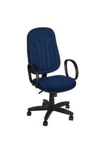 Cadeira Presidente Base Giratória C/ Bra Azul