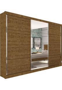 Guarda-Roupa Casal Com Espelho Los Angeles 3 Pt Imbuia Rustic