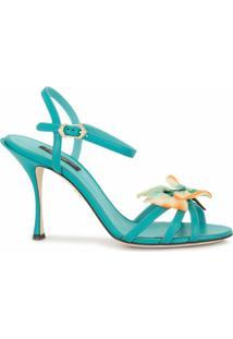 Dolce & Gabbana Sandália Com Aplicação De Borboleta - Verde