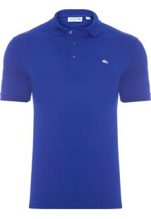 Polo Masculina Petit Piquet Stretch - Azul
