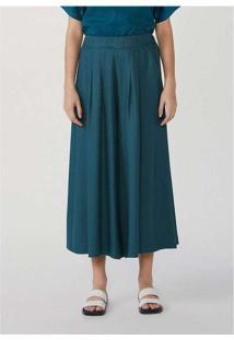 Calça Feminina Pantacourt Em Viscose Mãe Verde