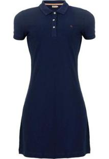 Vestido Polo Seeder Priquet Feminino - Feminino-Azul