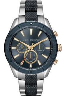 Relógio Armani Exchange Classic Enzo Bicolor Masculino - Masculino-Prata+Preto