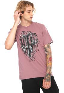 Camiseta Mcd Estampada Roxo
