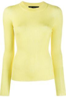 Versace Blusa Medusa De Tricô - Amarelo