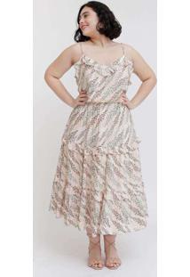 Vestido Midi Almaria Plus Size Tal Qual Estampado