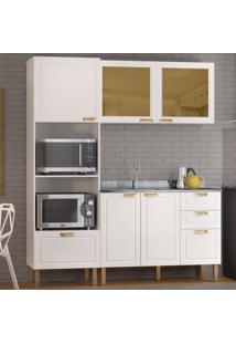 Cozinha Completa 3 Peã§As Americana Multimã³Veis 5909 Branco - Branco/Incolor - Dafiti