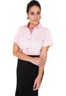 Camisa Lupim Manga Curta Rosa Claro