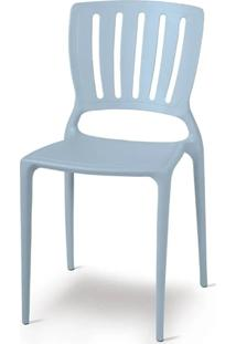 Cadeira Sofia Vazado Vertical Polipropileno Azul - 19514