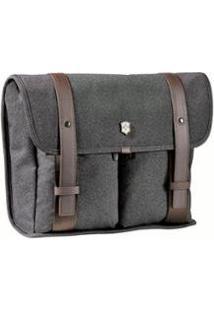 Bolsa Carteiro Victorinox Para Mini Laptop - Unissex-Marrom
