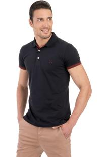 Camisa Polo Light Polo Live Preto E Bordo