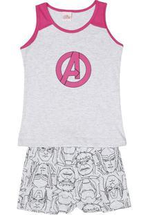 Short Doll Avengers®- Cinza & Rosaevanilda