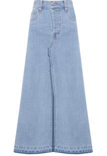 Saia Longa Jeans - Azul