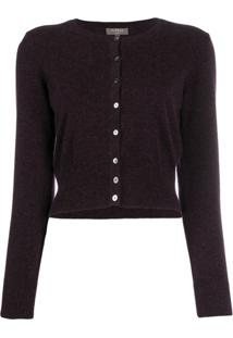 N.Peal Cropped Cardigan - Roxo