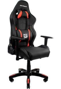 Cadeira Gamer Mx Twelve Preta E Vermelha