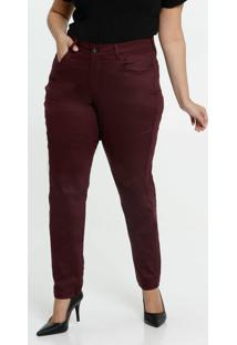 Calça Feminina Skinny Sarja Plus Size Razon