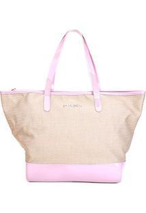 Bolsa Petite Jolie Shopper Summer Feminina - Feminino-Rosa