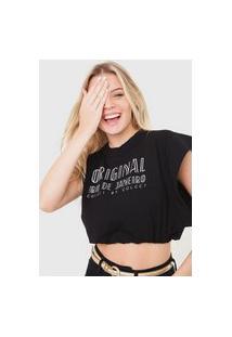 Camiseta Colcci Girl From Rio De Janeiro Preta