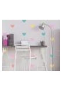 Adesivo De Parede Infantil Coração Colorido Tons Pastéis
