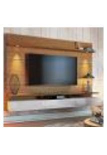 Painel Para Tv 60 Polegadas Decore Led Ii 3 Gv Freijó Com Off White