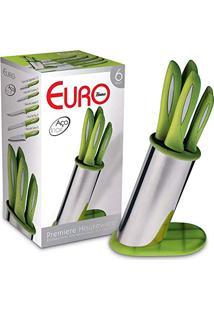 Cepo 6 Peças Euro Home Verde Pibr-6Vd