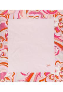 Emilio Pucci Junior Cobertor Com Estampa Floral - Rosa
