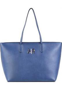 Bolsa Shopping Com Metal Azul - Tu