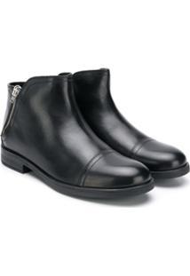 Geox Kids Ankle Boot Com Zíper - Preto