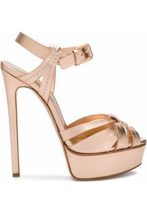 Casadei Sandália Com Plataforma E Salto Agulha - Dourado