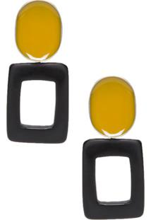 Brinco Geométrico Shoulder - Amarelo