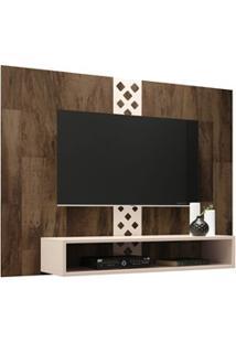 Painel Bancada Suspensa Para Tv Até 47 Pol. Form Deck/Off White - Hb M