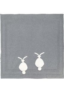 Stella Mccartney Kids Cobertor De Tricô Canelado - Cinza