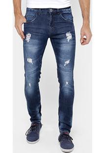 Calça Jeans Skinny Rock & Soda Rasgos Masculina - Masculino