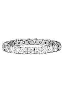 Aliança Absoluta Ouro Branco E 125 Pontos De Diamantes