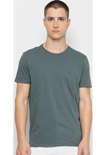 Camiseta Ellus Básica Masculina - Masculino-Verde Escuro