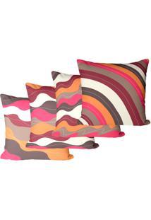 Kit 4 Capas Para Almofadas ÉTnico 45X45Cm - Multicolorido - Dafiti