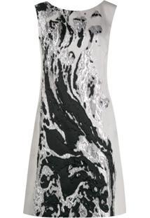 Alberta Ferretti Vestido Metalizado - Cinza