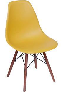 Cadeira Com Base Escura Eames 1102-Or Design - Açafrao