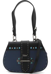Bolsa Vogue Pedraria Azul-Marinho