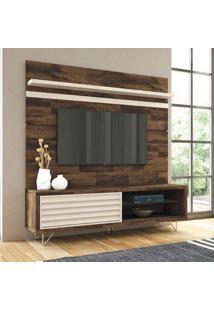 Rack Com Painel Para Tv De Até 70 Polegadas, Deck Com Off White, Motta