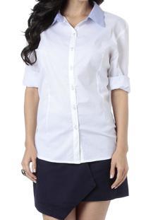 Camisa Energia Com Recortes Branco