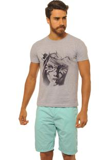 Camiseta Masculina Joss Premium New Nature Queen Cinza