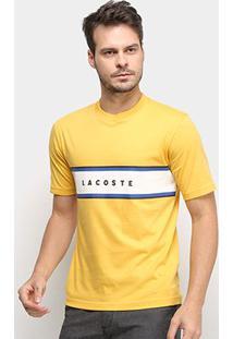 Camiseta Lacoste Manga Curta Masculina - Masculino-Amarelo Claro