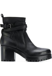 Strategia Ankle Boot Salto Bloco - Preto